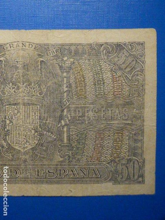 Billetes españoles: BILLETE 50 PTS 1940 - 9 ENERO - ESTADO ESPAÑOL MENENDEZ PELAYO PESETAS - Foto 6 - 35731867