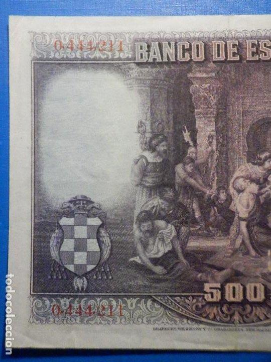 Billetes españoles: Billete 500 Pesetas - 15 de Agosto 1928 -Cardenal cisneros - Alfonso XIII - - Foto 6 - 35733591