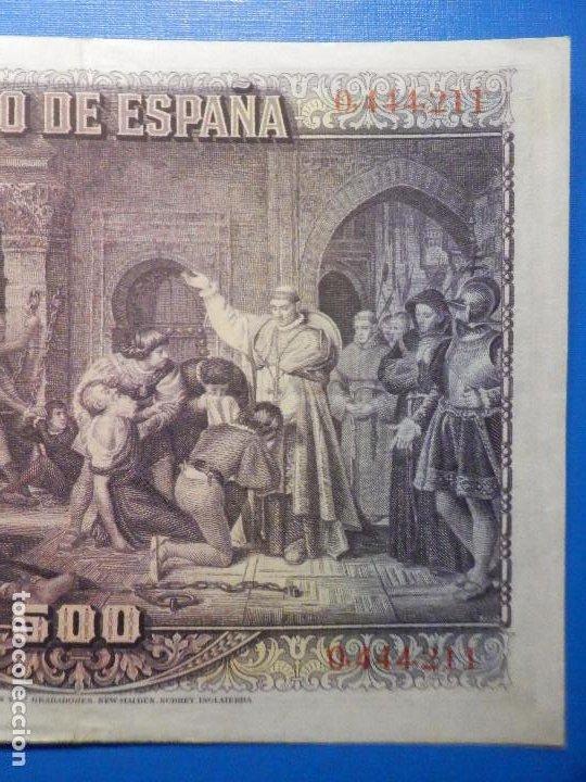 Billetes españoles: Billete 500 Pesetas - 15 de Agosto 1928 -Cardenal cisneros - Alfonso XIII - - Foto 7 - 35733591
