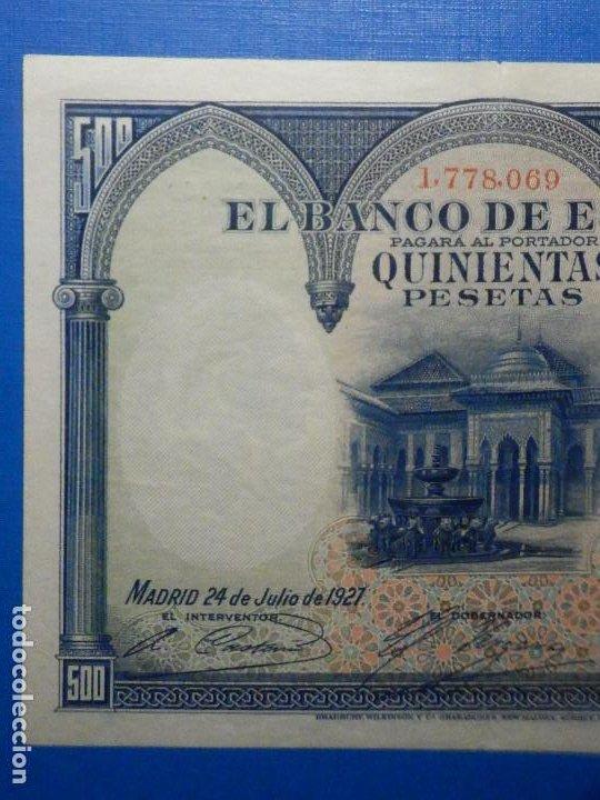 Billetes españoles: Billete 500 Pts Pesetas - Año 1927, 24 Julio - Alfonso XIII II República España, Isabel la Católica - Foto 2 - 34267800