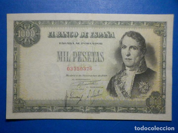 BILLETE 1000 PTS PESETAS - AÑO 1949 - 4 DE NOVIEMBRE - ESTADO ESPAÑOL - D RAMÓN DE SANTILLÁN (Numismática - Notafilia - Billetes Españoles)