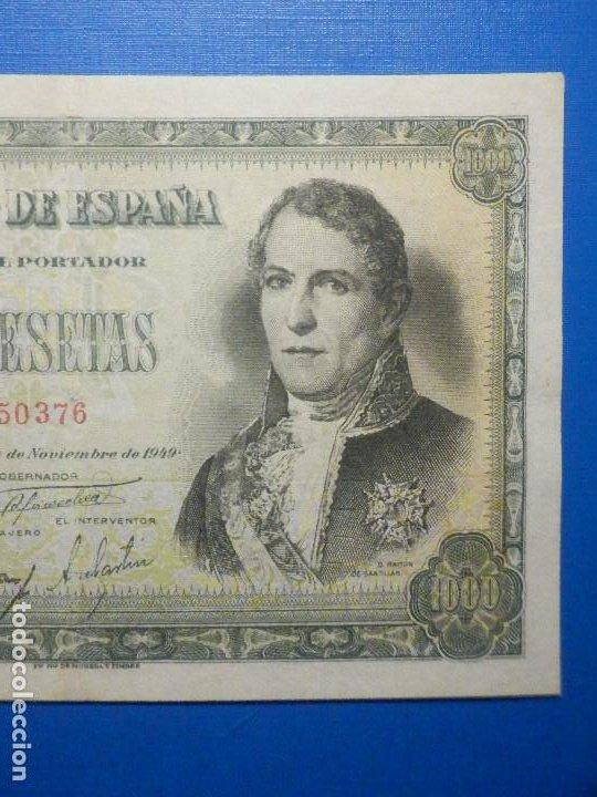 Billetes españoles: Billete 1000 Pts Pesetas - Año 1949 - 4 de Noviembre - Estado Español - D Ramón de Santillán - Foto 3 - 34263543