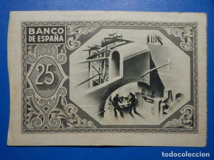 Billetes españoles: Billete 25 Pts - Pesetas - Año 1937, 1 de Enero Banco de España - Bilbao - Caja de Ahorros Vizcaina - Foto 4 - 34263475