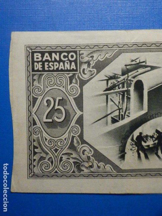 Billetes españoles: Billete 25 Pts - Pesetas - Año 1937, 1 de Enero Banco de España - Bilbao - Caja de Ahorros Vizcaina - Foto 5 - 34263475