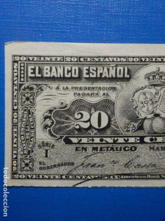 Billetes españoles: 20 centavos - 15 de Febrero año 1897 - Banco Español de la Isla de Cuba - - Foto 3 - 34284678