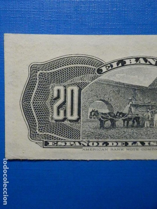 Billetes españoles: 20 centavos - 15 de Febrero año 1897 - Banco Español de la Isla de Cuba - - Foto 5 - 34284678