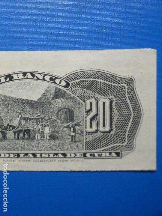 Billetes españoles: 20 centavos - 15 de Febrero año 1897 - Banco Español de la Isla de Cuba - - Foto 6 - 34284678