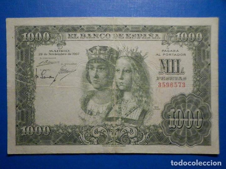 BILLETE 1000 PESETAS 29 NOVIEMBRE 1957 - REYES CATÓLICOS - SIN SERIE - (Numismática - Notafilia - Billetes Españoles)