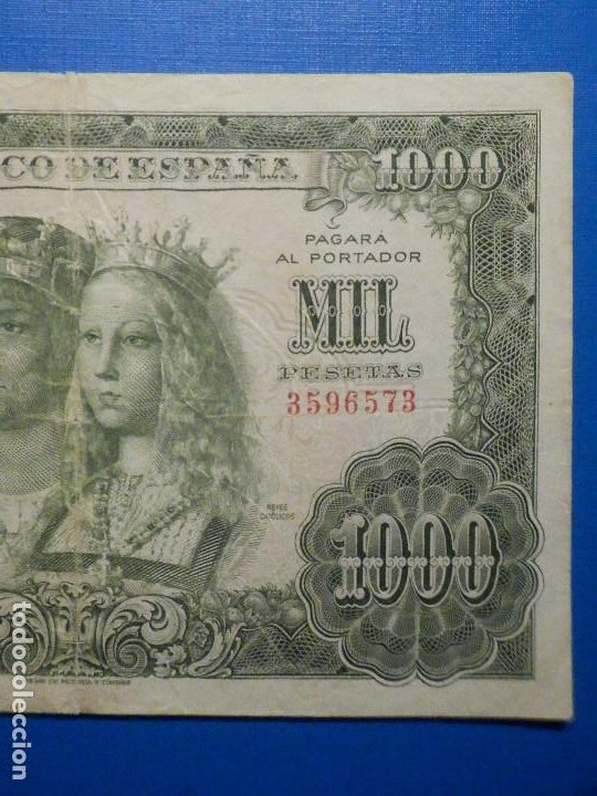 Billetes españoles: Billete 1000 pesetas 29 Noviembre 1957 - Reyes Católicos - Sin Serie - - Foto 3 - 35731724