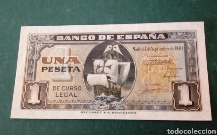 BILLETE 1 PESETA 1940 SERIE H PLANCHA (Numismática - Notafilia - Billetes Españoles)