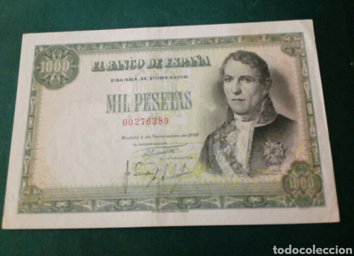 BILLETE 1000 1949 SIN SERIE EBC (Numismática - Notafilia - Billetes Españoles)