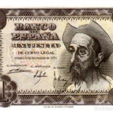 Billetes españoles: BILLETE DE ESPAÑA DE 1 PESETA DE 1951 BUEN ESTADO. Lote 286765628