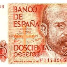 Billetes españoles: BILLETE DE ESPAÑA DE 200 PESETAS DE 1980 CIRCULADO. Lote 286765858
