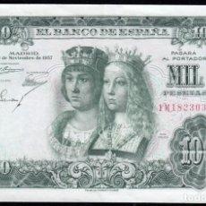 Billetes españoles: 1000 PESETAS 1957 SERIE 1M MBC+. Lote 286950078