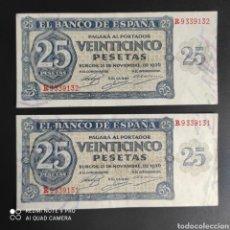 Billetes españoles: 25 PESETAS 1936. Lote 287218388