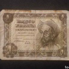 Billetes españoles: BILLETE DE 1 PESETA ESPAÑA AÑO 1951. Lote 287645518