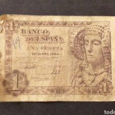 Billetes españoles: BILLETE DE 1 PESETA ESPAÑA AÑO 1948 DAMA DE ELCHE. Lote 287676923