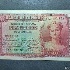 Billetes españoles: BILLETE DE 10 PESETAS AÑO 1935 ESPAÑA. Lote 287803473