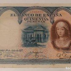 Billetes españoles: BILLETE 500 PESETAS ISABEL LA CATÓLICA 1927. Lote 287804578