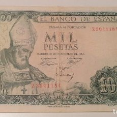 Billetes españoles: BILLETE 1000 PESETAS SAN ISIDORO 1965. Lote 287804723