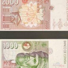Billetes españoles: DOS BILLETES 1000 Y 2000 PESETAS. Lote 287839818