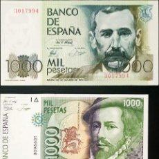 Billetes españoles: COLECCIÓN 3 BILLETES PESETAS 200 , 1000 ( PIZZARO Y GALDÓS ). Lote 287842298