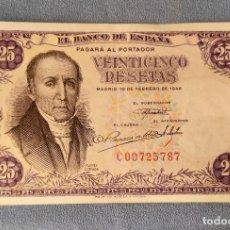Billetes españoles: BILLETE DE ESPAÑA 25 PESETAS MADRID 19 DE FEBRERO 1946 SERIE C SIN CIRCULAR FLOREZ ESTRADA ORIGINAL. Lote 287904298