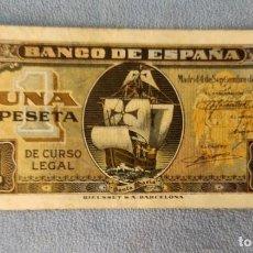 Billetes españoles: BILLETE DE ESPAÑA 1 PESETA MADRID 4 DE SEPTIEMBRE 1940 SERIE C SIN CIRCULAR PLANCHA ORIGINAL. Lote 287905973