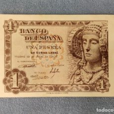 Billetes españoles: BILLETE DE ESPAÑA 1 PESETA MADRID 19 DE JUNIO 1948 SERIE E SIN CIRCULAR PLANCHA ORIGINAL. Lote 287923523