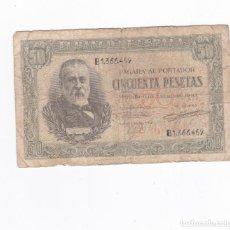 Billetes españoles: 50 PESETAS- 09 DE ENERO DE 1940. Lote 288502578
