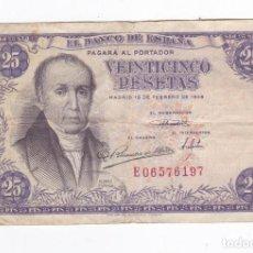 Billetes españoles: 25 PESETAS- 19 DE FEBRERO DE 1946-SERIE E. Lote 288502713
