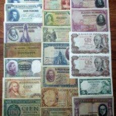 Billetes españoles: 20 BILLETES DE ALFONSO XIII, 2ª REPUBLICA, LOCALES GUERRA CIVIL Y DEL ESTADO ESPAÑOL. LOTE 1702. Lote 289414968
