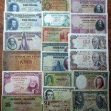 Billetes españoles: 20 BILLETES DE ALFONSO XIII, 2ª REPUBLICA, LOCALES GUERRA CIVIL Y DEL ESTADO ESPAÑOL. LOTE 1703. Lote 289418953