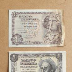 Billetes españoles: LOTE DE 3 BILLETES DE 1 PESETA 1948 SERIE C 1951 SERIE G 1953 SERIE W. Lote 289430108