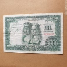 Billetes españoles: BILLETE 1000 PESETAS AÑO 1957 SERIE Z REYES CATÓLICOS. Lote 289434223