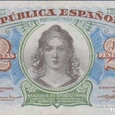 Billetes españoles: BILLETES ESPAÑOLES - MINISTERIO DE HACIENDA - 2 PESETAS 1938 - SERIE A (SC-). Lote 290260563