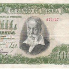 Billetes españoles: BILLETE DE 1000 PESETAS DEL AÑO 1951 DEL PINTOR JOAQUIN SOROLLA SIN SERIE EN BUENA CALIDAD. Lote 291532978