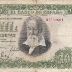Billetes españoles: BILLETE DE 1000 PESETAS DEL AÑO 1951 DEL PINTOR JOAQUIN SOROLLA SERIE B. Lote 291533053