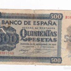 Billetes españoles: 1000 PESETAS- 21 DE NOVIEMBRE DE 1936-SERIE B. Lote 291911903