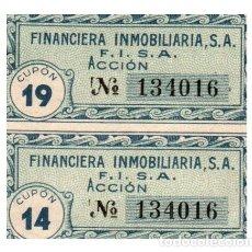 Billetes españoles: BILLETE DE LA FINANCIERA INMOBILIARIA ACCION CIRCULADO. Lote 291964158