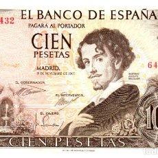 Billetes españoles: BILLETE DE ESPAÑA DE 100 PESETAS DE 1965 CIRCULADO. Lote 291964578