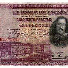 Billetes españoles: BILLETE DE ESPAÑA DE 50 PESETAS DE 1928 CIRCULADO. Lote 291964633