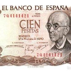 Billetes españoles: BILLETE DE ESPAÑA DE 100 PESETAS DE 1970 BUEN ESTADO. Lote 291964688