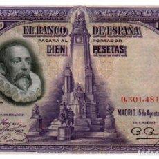 Billetes españoles: BILLETE DE ESPAÑA DE 100 PESETAS DE 1928 CIRCULADO. Lote 291964758