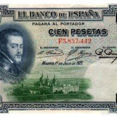 Billetes españoles: BILLETE DE ESPAÑA DE 100 PESETAS DE 1925 CIRCULADO. Lote 291964823