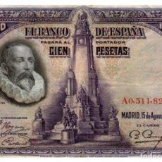 Billetes españoles: BILLETE DE ESPAÑA DE 100 PESETAS DE 1928 CIRCULADO. Lote 291966493