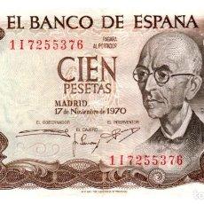Billetes españoles: BILLETE DE ESPAÑA DE 100 PESETAS DE 1970 CIRCULADO. Lote 291966763