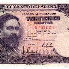 Billetes españoles: BILLETE DE ESPAÑA DE 100 PESETAS DE 1954 MANCHADO. Lote 291966858