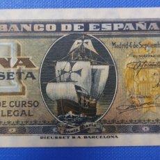 Banconote spagnole: BILLETE 1 PESETA 1940, PERFECTO ESTADO.. Lote 292094808