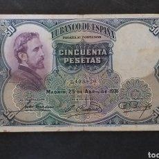 Banconote spagnole: BILLETE 50 PESETAS ESPAÑA AÑO 1931. Lote 293715168